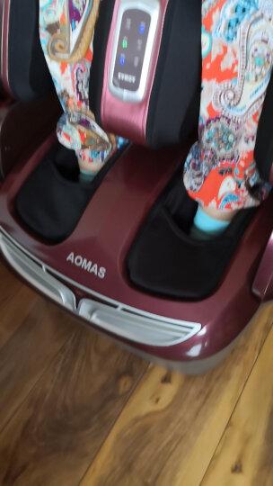 澳玛仕(AOMAS)【送父母长辈】足疗机美腿机401-plus足部膝部腿部按摩器足底脚底按摩机足疗机 酒红色 晒单图