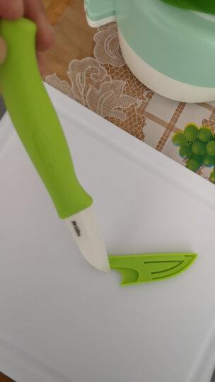 美瓷(MYCERA)陶瓷刀3寸切水果刀具 厨房小刀 瓜果刀 削皮刀 辅食刀(橙色)EZ3O 晒单图