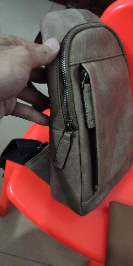 稻草人(MEXICAN)男士胸包休闲运动单肩包潮流旅行小背包复古斜挎男包MMD90023M-01蓝色 晒单图
