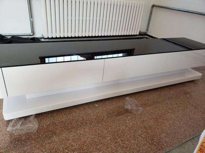古宜 新款电视柜客厅简约现代电视机柜 中小户型电视柜套装背景墙茶几组合 钢化玻璃钢琴烤漆地柜 单个茶几1.2米 1.4米 请备注 晒单图