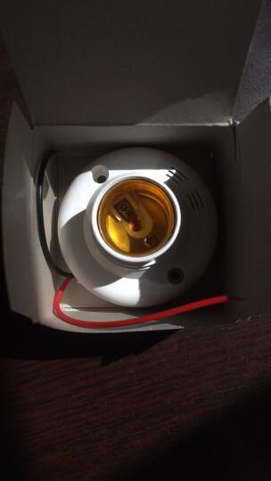 声光控开关灯座 感应延时声控开关 楼道可接 led节能灯头E27螺口 普通 灯泡 3W(白光E27螺口) 晒单图
