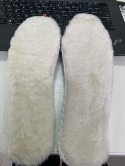 DELIUGG  羊皮毛一体鞋垫秋冬鞋类雪地靴豆豆鞋加厚羊毛保暖鞋垫垫脚 男款 42 晒单图