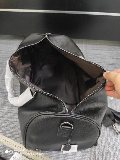斐格男士旅行包手提真皮男女旅行袋大容量行李包出差运动健身包单肩包男包 黑色升级加大版(牛皮钱包套餐+运费险) 晒单图