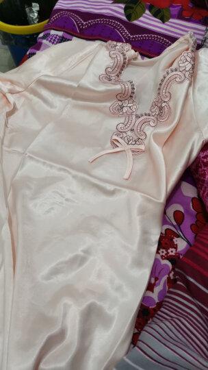 南极人(Nanjiren)睡裙 女仿丝公主甜美短袖睡衣女士韩版薄款家居服性感睡衣N676X20042-8 香槟色L 晒单图