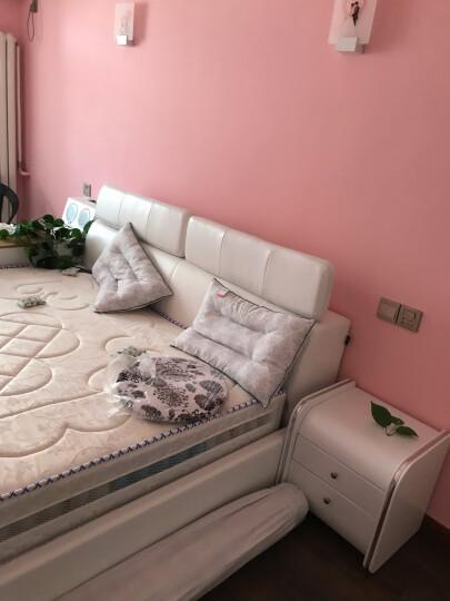 梵萨帝 床 皮床布艺床双人榻榻米1.8米 1.5M床+乳胶椰棕双面床垫+床头柜*2 智能实用版(按摩榻榻米+保险柜+蓝牙音响) 晒单图