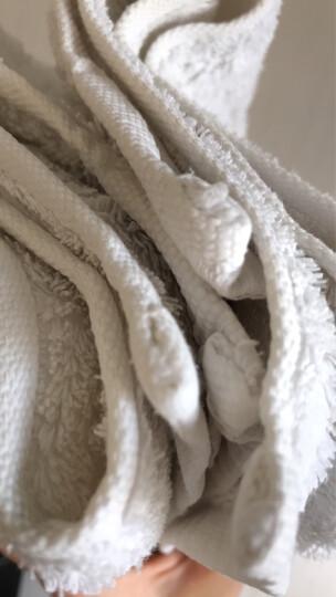 大朴家纺 纯棉毛巾 素色美容洁面条纹洗脸全棉面巾16支精梳埃及长绒棉 毛巾6条装 34cm*76cm 晒单图