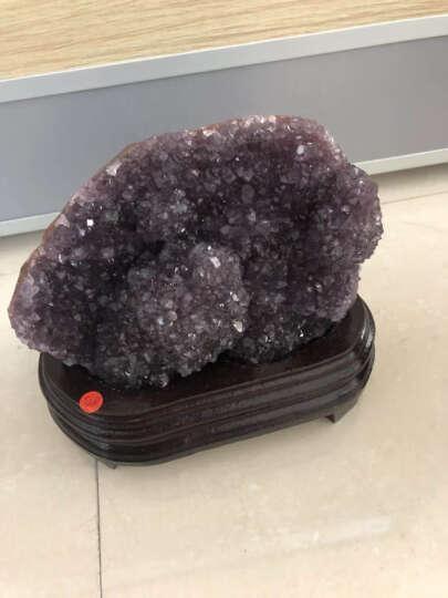 婧茹 天然紫晶洞聚宝盆摆件钱袋紫晶簇紫水晶洞块消磁家居办公水晶装饰品摆件 X3.45 晒单图
