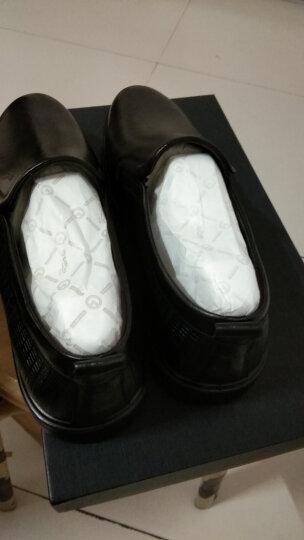 Goldlion/金利来男鞋商务休闲皮鞋男套脚优雅舒适时尚皮鞋男 棕色 40 晒单图