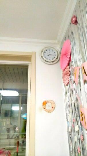 北极星 挂钟 经典中式挂表时钟雕花式创意简约静音客厅石英钟 2981-1 红木色 晒单图