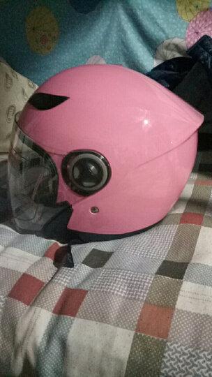 野马(YEMA)6619电动摩托车头盔 男女通用款式 一年四季可佩戴 冬季半盔 可佩防雾 珍珠白 L 晒单图
