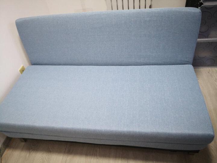 随派多功能沙发床折叠两用单双人沙发小户型布艺可拆洗金属沙发 绿色 1米宽大单人位 晒单图