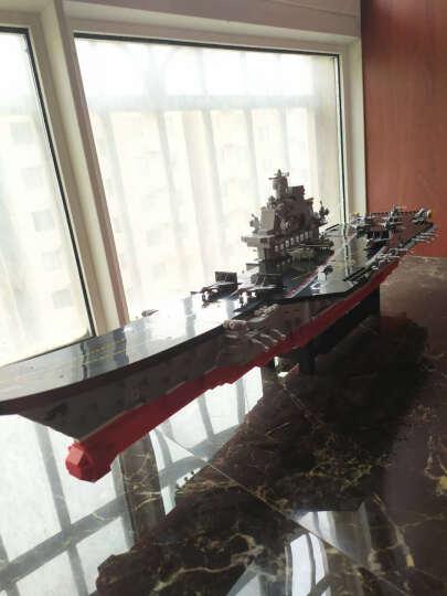 小鲁班9合1航空母舰拼装玩具 兼容乐高积木 男孩益智军事航母模型 儿童幼儿园早教六一儿童节生日礼物 航母护卫舰三件套 晒单图