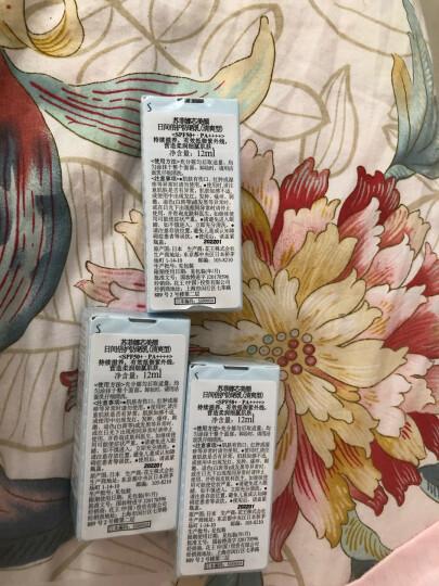 日本苏菲娜Sofina透美颜饱水控油双效美白日间倍护防护乳液30mlSPF50+ PA++++(新蓝蕾丝防晒霜 男女适用) 晒单图