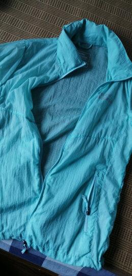 ALPINT MOUNTAIN 户外男女情侣透气皮肤风衣遮阳防护晒衣服 630-109男款 藏青 L 晒单图