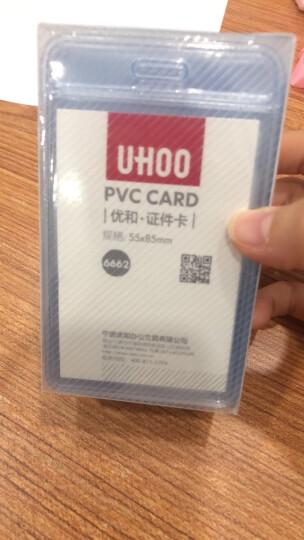 优和(UHOO)软质PVC证件卡套竖式 展会厂牌工作证件 48个/盒 6662 晒单图