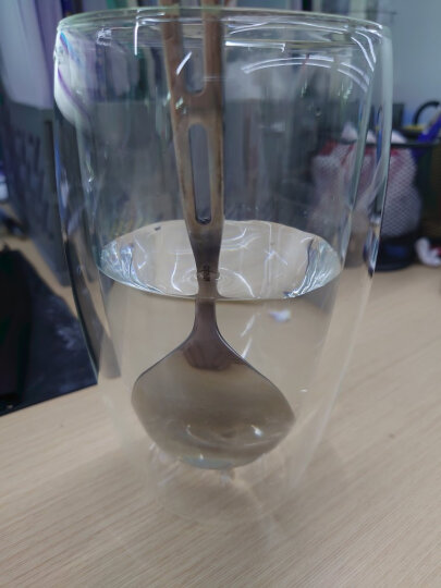 KARPHOME卡普家居耐热玻璃杯双层家用泡茶杯办公室防烫手喝水杯啤酒饮料果汁杯子杯架套装 2只装450ML 晒单图