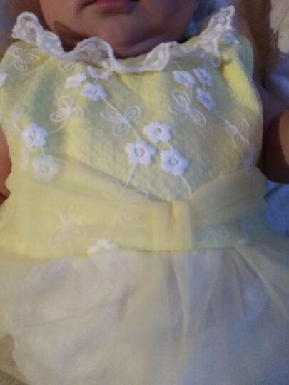 魔肯(MOKEN) 婴儿裙子01岁女宝宝春夏季纯色连衣裙棉质公主裙外出服装 纯色纱裙-黄色 66码(建议体重12斤内) 晒单图