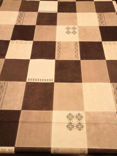 欧式PVC防油防水桌布 餐桌布茶几盖布加厚耐高温餐桌垫台布长方形正方形茶几垫 牛奶咖啡巧克力 137*200cm 晒单图