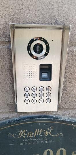 酷丰(KUFENG) 10英寸指纹密码开锁可视对讲门铃家用有线高清电话机 KF-V101 1个指纹密码外机 3个高清十寸室内机 晒单图