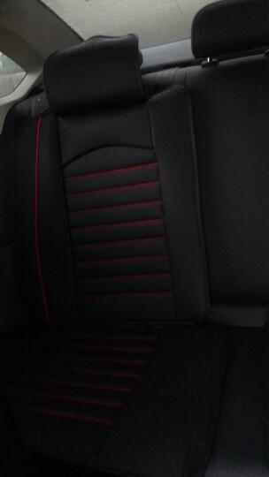 翰静 2020新款汽车坐垫全包围四季通用皮座垫五座小车免拆汽车座套 黑红色 丰田RAV4卡罗拉威驰FS凯美瑞致炫雷凌奕泽CHR 晒单图