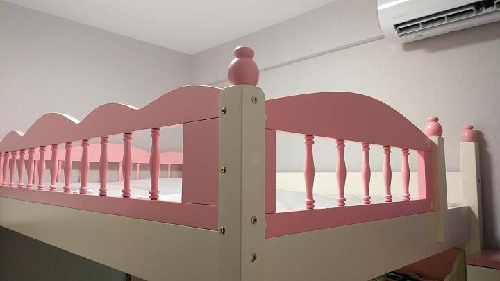 糖果屋上下床儿童床实木高低双层子母床男孩女孩上下铺 多功能带护栏公主母子加宽成人亲子幼儿拼接家具套装 上铺+衣柜+书桌+储物梯柜 上铺1.35X1.9米 晒单图