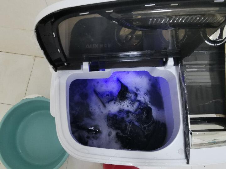 奥克斯(AUX) 洗衣机小型迷你婴儿童宝宝洗脱一体家用宿舍出租房波轮半全自动双桶双缸大容量洗衣机 3.0kg黑色【京东秒杀+蓝光照射】 晒单图