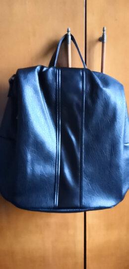 百芙丽(Bvlbavly)新款羊皮质感双肩背包女士韩版简约单肩斜跨包防盗休闲旅行书包 黑色 晒单图