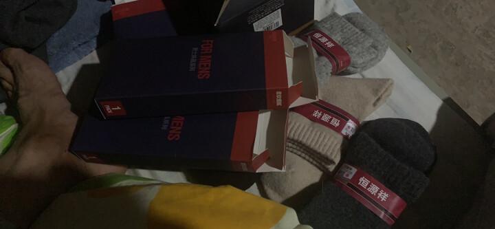 恒源祥 加厚保暖兔毛袜 男士中筒毛圈袜子4双 纯色款混色装 晒单图