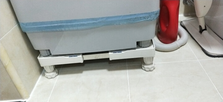 瑞帝(RUIDI) 洗衣机底座不锈钢移动冰箱空调支架全自动滚筒波轮洗衣机美通用的托架 12脚 晒单图