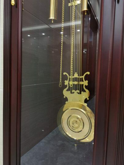 POWER 霸王实木落地钟客厅座钟欧式中式美式北欧机械坐钟创意立钟现代大气摆钟立式钟表赫姆勒红木时钟 MG2510罗马字钟面红木色 优质实木 晒单图