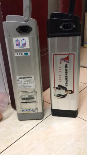 天能电动车锂电池银鱼48V10AH电瓶车电瓶 A款银色高度265mm/三星头/二竖一横倒品 晒单图