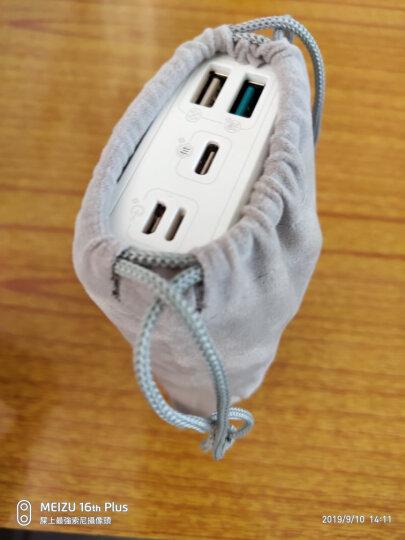 优越者(UNITEK)分线器硬盘盒手机收纳袋充电宝移动充电器保护套袋子移动硬盘U盘耳机束口绒布袋小号Y-OT20GY 晒单图