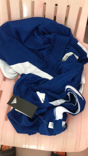阿迪达斯 Adidas 无袖篮球服套装 青少年男款篮球背心短裤 团队DIY定制可印字印号 黑白BK0059/BK0056双面 L(180/100A) 晒单图
