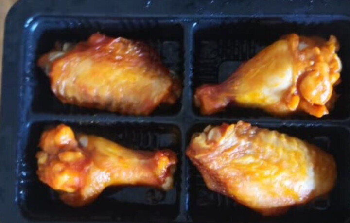大成 咖喱鸡翅中?295g?微波侠鸡翅膀烤翅烤鸡翅炸鸡翅炸翅中 烧烤食材微波食品加热即食 晒单图