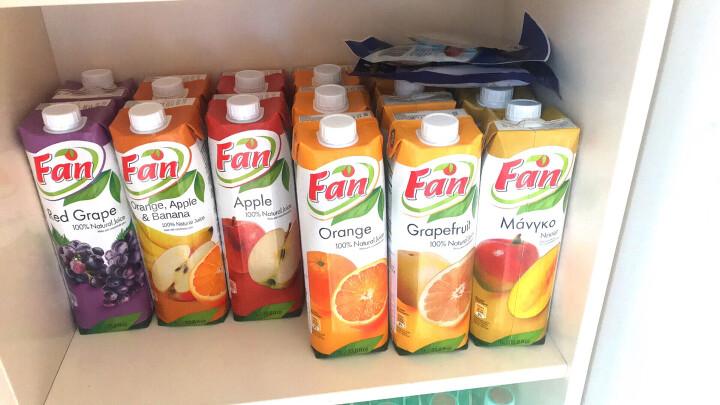 中粮我买网 纯果芬果汁 西柚汁+橙苹果香蕉复合汁+菠萝汁+苹果汁+葡萄汁+橙汁1L*6 塞浦路斯进口 晒单图