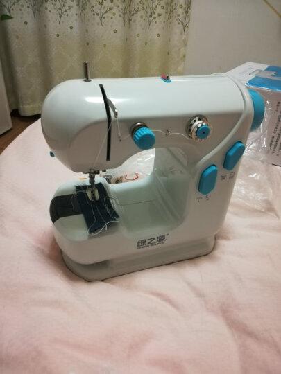 绿之源电动台式缝纫机 迷你家用多功能小型吃厚微型脚踏手工裁缝机 晒单图