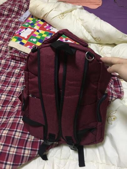 aardman妈咪包多功能大容量双肩妈妈包待产包双肩背包HY-1709酒红色 晒单图