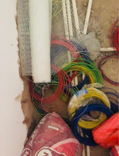双菱电线电缆 BV4平方国标家装家用空调热水器用线 单芯单股纯铜芯硬线 100米足米 双色地线 晒单图