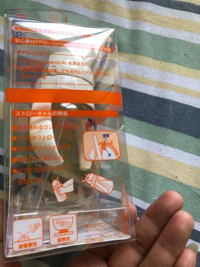 利其尔(Richell) 儿童吸管杯 吸管奶瓶 学饮杯宝宝饮水杯 PPSU训练杯带手柄 吸管杯 260ml 晒单图