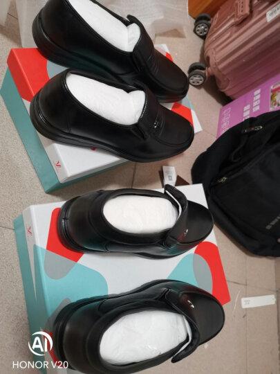 意尔康 皮鞋日常商务休闲男鞋牛皮柔软舒适轻便套脚单鞋S184ZA07179WJ 黑色 40 晒单图