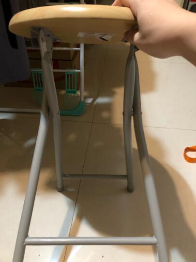 慧乐家 折叠椅 木面金属便携椅凳 电脑椅 木纹色 22018 晒单图