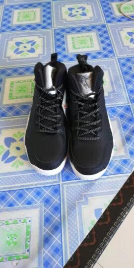乔丹(QIAODAN) 篮球鞋男运动鞋男学生透气高帮减震耐磨黑骑士战靴运动篮球鞋 黑色/银色 42 晒单图