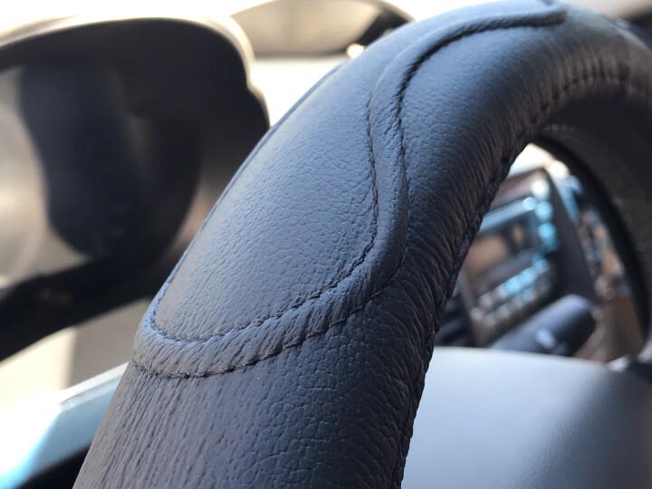 YooCar 汽车方向盘套 真皮免手缝四季通用牛皮把套防滑透气 黑色中号A026 晒单图