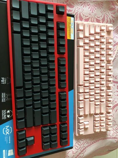 利奥博德Leopold FC750R PD 加厚PBT二色成型87键机械键盘(游戏键盘 高抗打油) 暗礁配色 红轴 晒单图