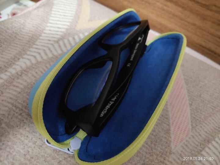 SHADEZ儿童防辐射眼镜视得姿瑞士防蓝光护目镜原装进口儿童眼镜 黑色 7-16岁 晒单图