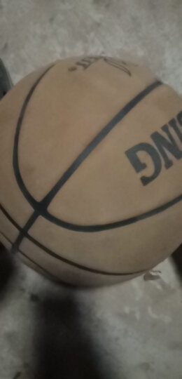 WITESS 篮球番毛软皮加厚真皮手感7号标准比赛篮球室内室外通用蓝球 升级版深棕色-送全套配件 晒单图
