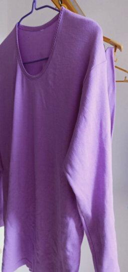 红豆内衣男士秋衣秋裤纯棉套装圆领棉毛衫薄款打底保暖内衣591 大红 175/100 晒单图