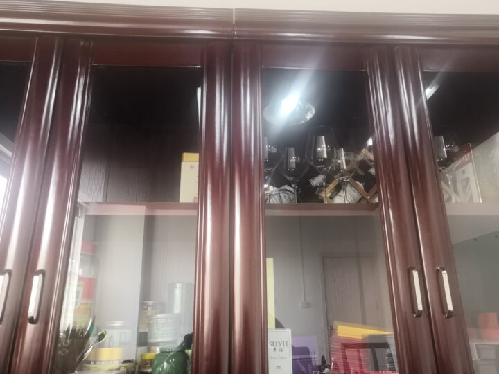 世纪柏源 办公家具 实木贴皮大班台主管桌老板桌经理桌办公桌椅 3.2*1.15含两柜+8门柜+牛皮椅现货 晒单图