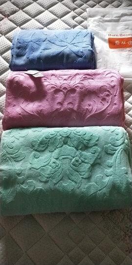 【两件九折】美宜美毛巾被老式纯棉纱布提花毛巾毯夏季单人双人空调被盖毯加厚 金桔色欧雅 150*200 晒单图