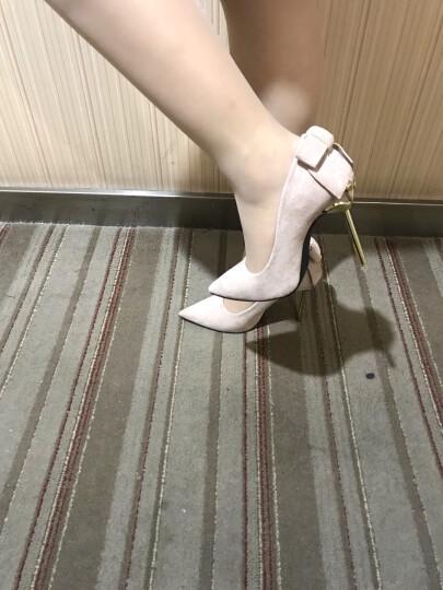 宝蓝骏 春秋 新款高跟鞋 细跟女性感夜店浅口尖头高跟鞋OL职业纯色简约工作单鞋 红色标码 39 晒单图